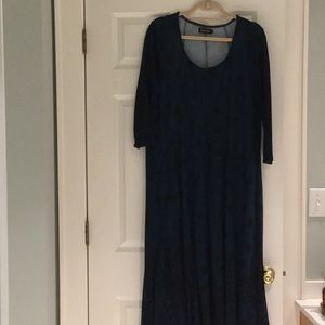 Gorgeous teal blue comfortable swing dress.